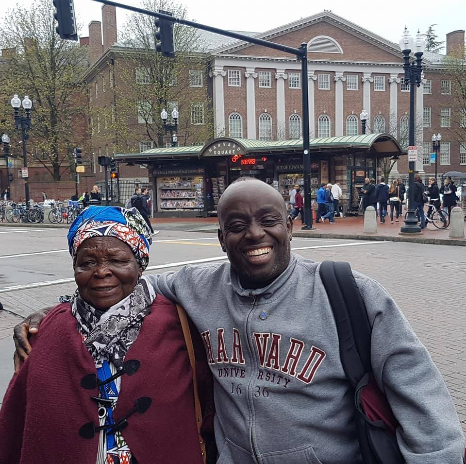 Chris takes His mother to Harvard University