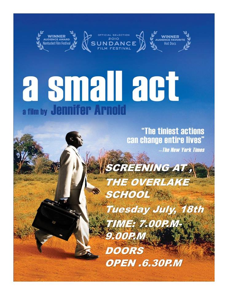 Free public screening of 'A small Act' in Seattle